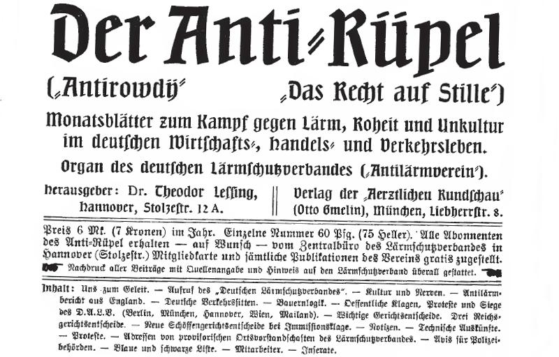 """Mithilfe der eigenen Publikation """"Antirüpel"""" verschaffte sich der Antilärmverein Gehör."""